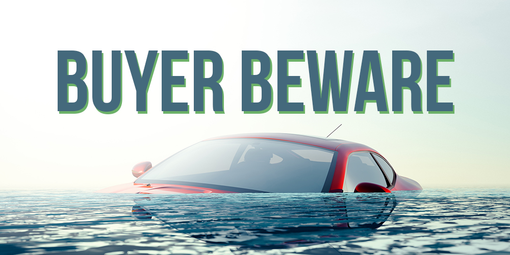 Buying Cars, Flooding Cars, What to look out for